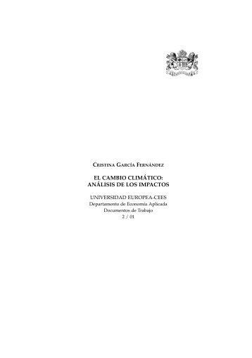 EL CAMBIO CLIMÁTICO: ANÁLISIS DE LOS IMPACTOS