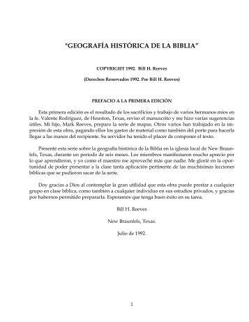 """""""GEOGRAFÍA HISTÓRICA DE LA BIBLIA"""" - Bill H. Reeves enseña"""