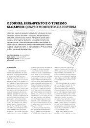 o jornal barlavento eo turismo algarvio:quatro ... - dos algarves