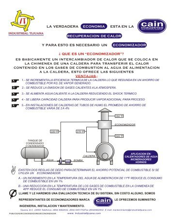 2. Economizadores para calderas. - Industrial Tijuana