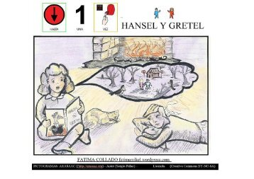 Cuento la casita de chocolate Hansel y Gretel con pictos