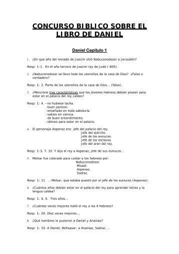 cuestionario del libro de daniel capÍtulo 1 1 quién