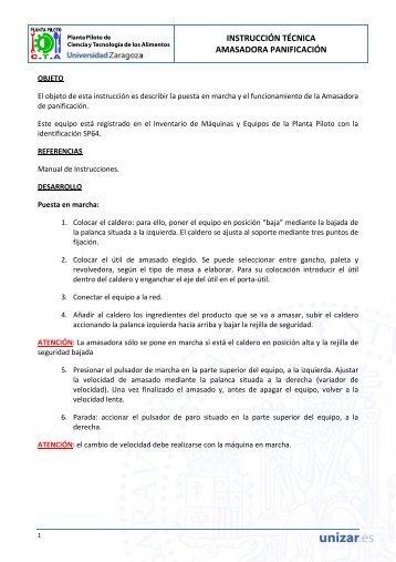 Manual de uso. - Planta Piloto de Ciencia y Tecnología de los ...