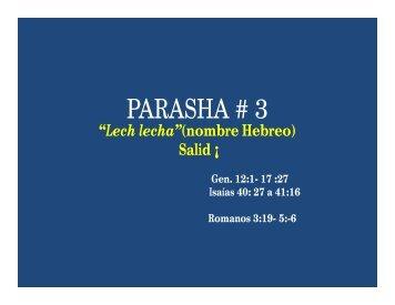 PARASHA #3 Lech Lecha- Salid! - Desde el monte de Efraim