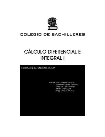CÁLCULO DIFERENCIAL E INTEGRAL I - Conevyt