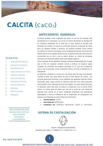 CALCITA (CaCO3) - Universidad de Antofagasta