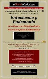 Cuaderno N° 40 Entusiasmo y Eudemonía. Con ... - El Rival Interior