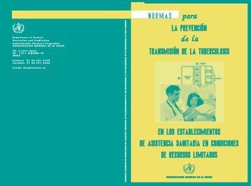 Normas para la prevención de la transmisión de - World Health ...