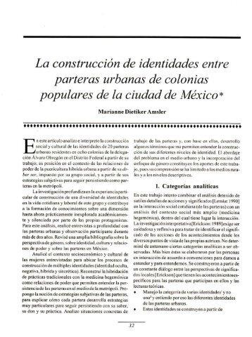 La construcción de identidades entre parteras urbanas de colonias
