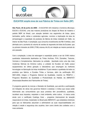 compartilhar - Eucatex