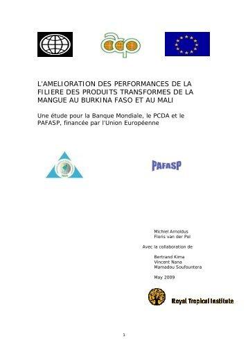 l'amelioration des performances de la filiere des produits ...