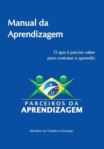 Manual da Aprendizagem - Ministério do Trabalho e Emprego