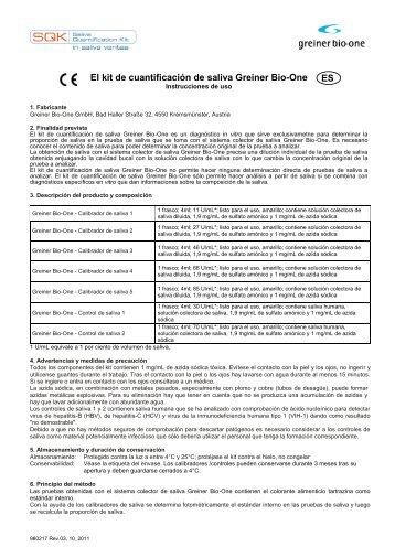 El kit de cuantificación de saliva Greiner Bio-One ES
