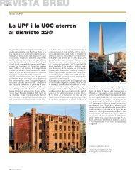 La UPF i la UOC aterren al districte 22 - Ajuntament de Barcelona