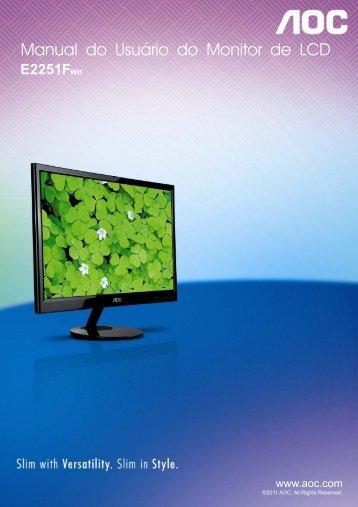 Manual do Usuário do Monitor de LCD - AOC