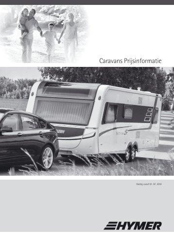 Caravans Prijsinformatie