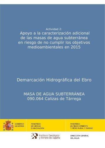 90_064 calizas de tárrega - Confederación Hidrográfica del Ebro