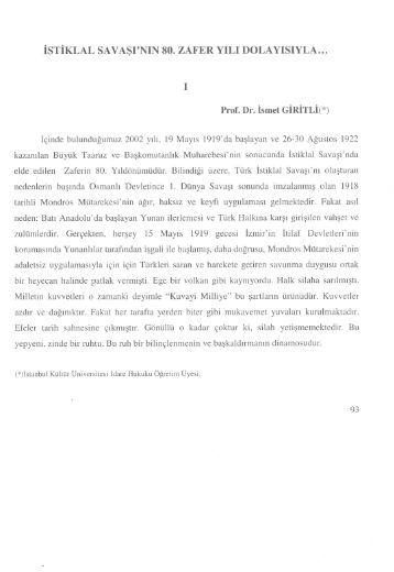 İstiklal Savaşı'nın 80. Zafer Yılı Dolayısıyla - İstanbul Kültür Üniversitesi