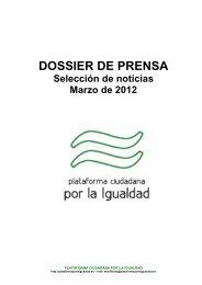 03-2012 Dossier Plataforma MARZO-2012 Red