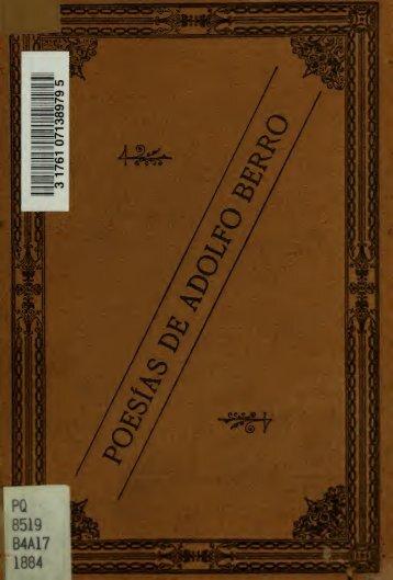 Poesias de Adolfo Berro