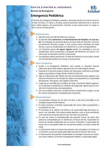 Guía Emergencia Pediátrica - EsSalud