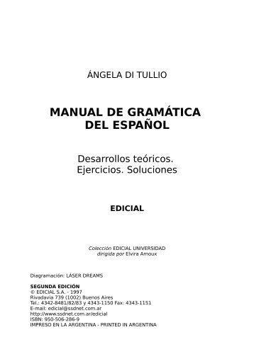 manual de gramática del español - Colégio Educare Pitágoras