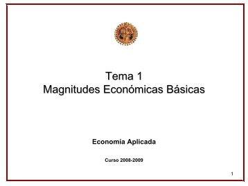 Magnitudes económicas básicas - OCW Usal