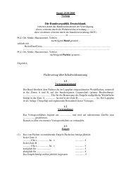 Die Bundesrepublik Deutschland, Pachtvertrag über ...