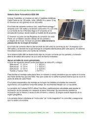 Sistema Solar Fotovoltaico EEE-390 Incluye 3 paneles, un inversor ...