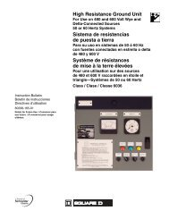 High Resistance Ground Unit Sistema de ... - Schneider Electric
