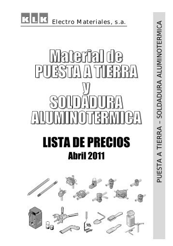 Material de PUESTA A TIERRA y SOLDADURA ALUMINOTERMICA