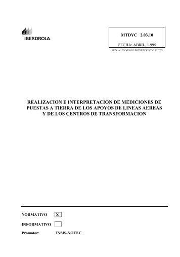 Realización e interpretación de mediciones de puestas a tierra de ...