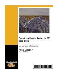 Pneg-1092ESP - 30° Bin Roof Construction - GRAIN SYSTEMS INC.