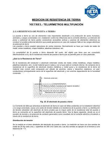 Medición de Puesta a Tierra Métodos de medición ... - ETA Electro