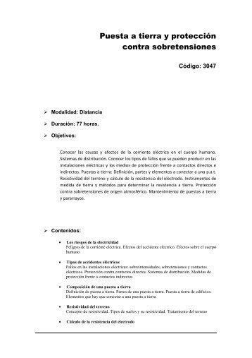 Puesta a tierra y protección contra sobretensiones - Universidad ...