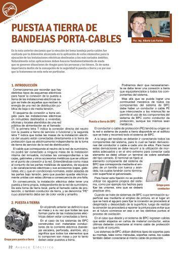 PUESTA A TIERRA DE BANDEJAS PORTA-CABLES - Cadime