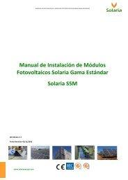 Manual de Instalación de Módulos Fotovoltaicos Solaria Gama ...