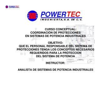 curso conceptual: coordinación de protecciones en sistemas de