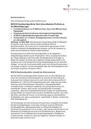 MCE 02 Zweitmarktportfolio: Breit diversifiziertes Portfolio an ...