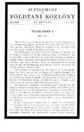 Földtani Közlöny 46. köt. 7-12. füz. (1916.) - EPA