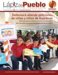 Defensora atiende peticiones de niñas y niños de Guarenas
