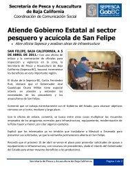 Atiende Gobierno Estatal al sector pesquero y acuícola de San Felipe