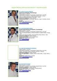 equipo médico servicio ortopedia y traumatología - Hospital Clínico ...
