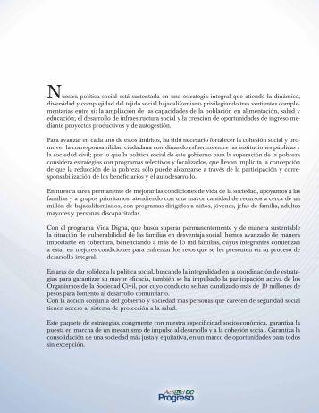 Informe de Labores - Gobierno del Estado de Baja California