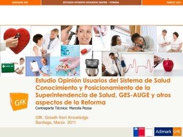 Estudio Opinión Usuarios del Sistema de Salud Conocimiento