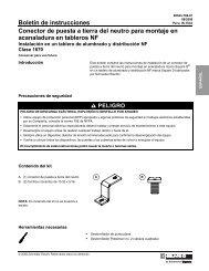 Conector de puesta a tierra del neutro para ... - Schneider Electric