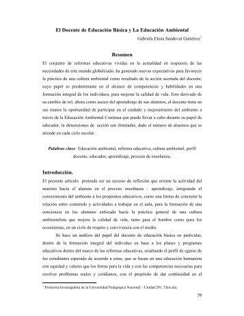El Docente de Educación Básica y La Educación ... - UPN 291