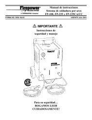 Manual de instrucciones Sistema de soldadura por arco FP-100, FP ...