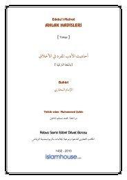 Edebu'l-Mufred Ahlâk Hadisleri - Islam House - IslamHouse