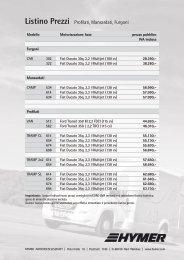 Listino Prezzi Profilati, Mansardati, Furgoni